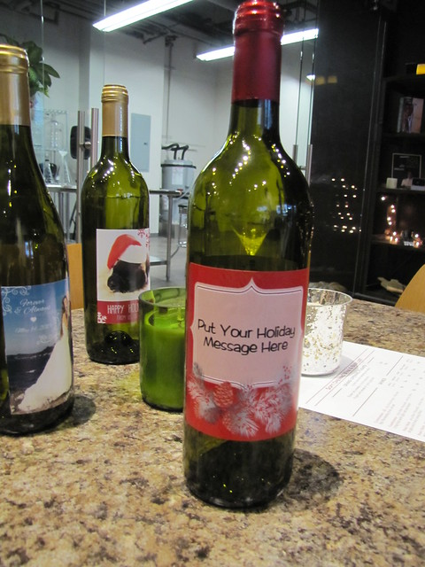Customized Wine Labels at The Wine Experience