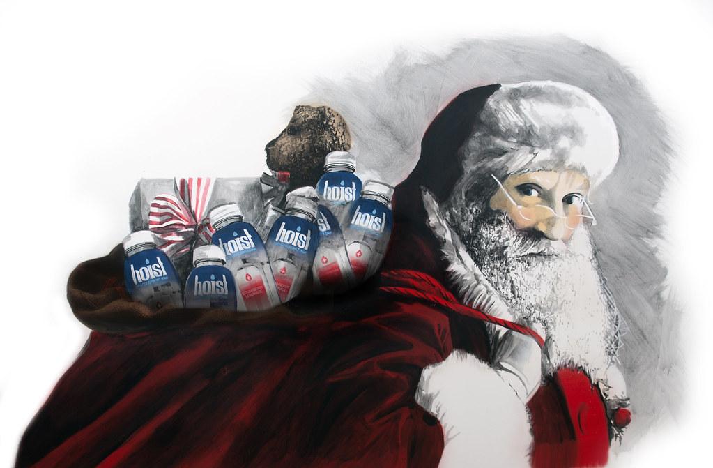 Hoist Santa Acrylic, Spray Paint 2015