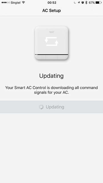 tado iOS App - AC Setup - Downloading Commands
