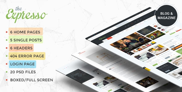 ThemeForest Expresso v1.1 - A Modern Magazine and Blog Template