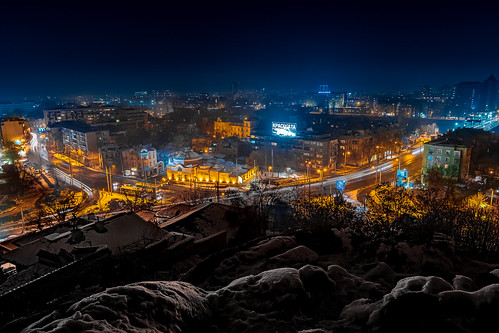 Cold colors of Plovdiv city