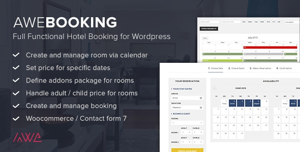 Codecanyon AweBooking v2.1 - Online Hotel Booking for WordPress
