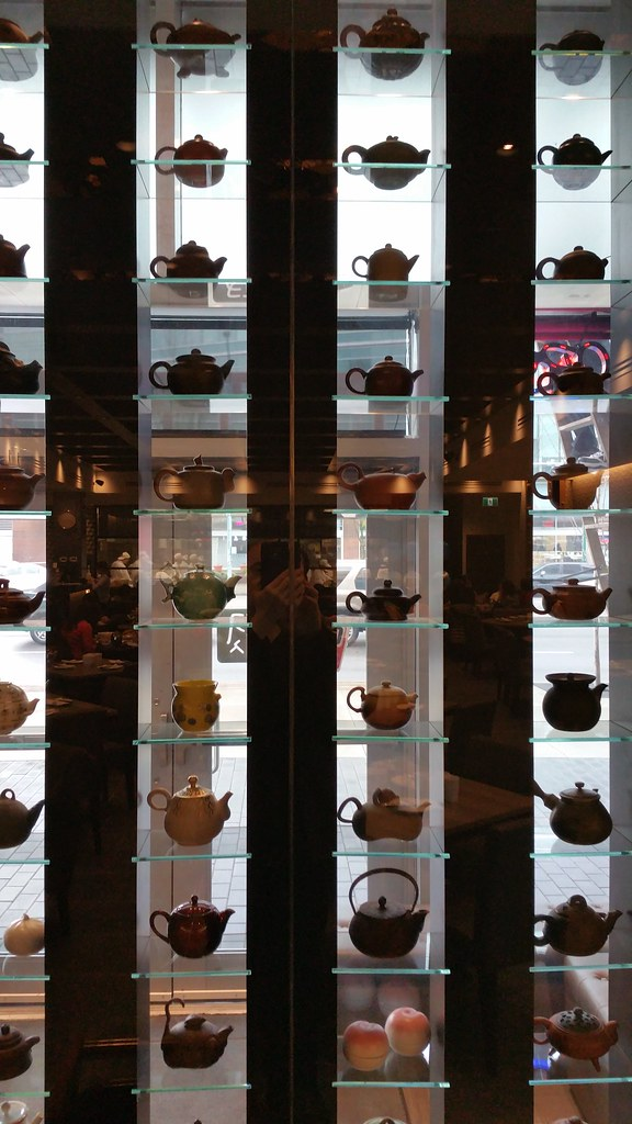2016-Jan-22 Dinesty Dumpling House Burnaby - a few of the many pots