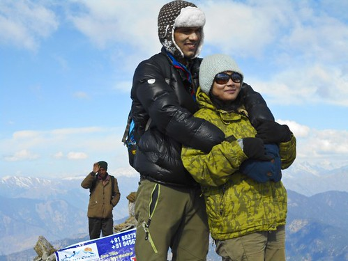 Netik and Tapati - During Kedarkantha Summit 2016 in Winter , Uttrakhand, India
