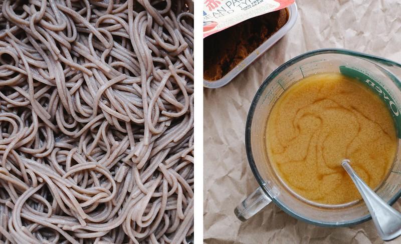 Roasted Vegetable Miso Soup Soba Noodles