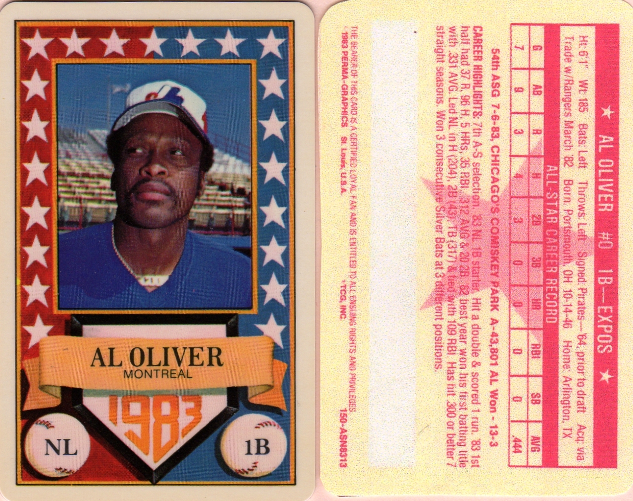 1983 Perma Graphic All-Star Credit Card