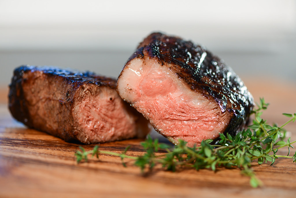 Sous Vide and Grilled NY Strip Steaks