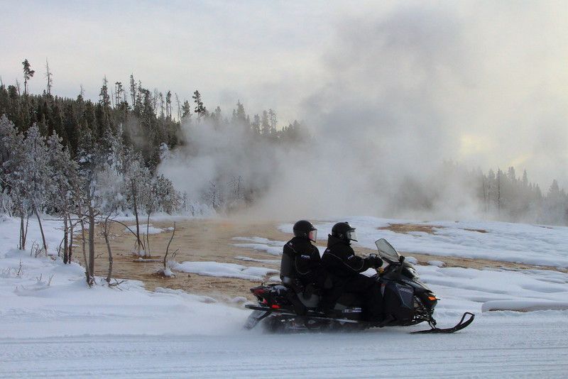 IMG_4243 Snowmobile at Upper Geyser Basin