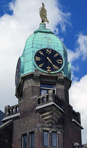 A Weather Vane Clock in Rotterdam, Holland