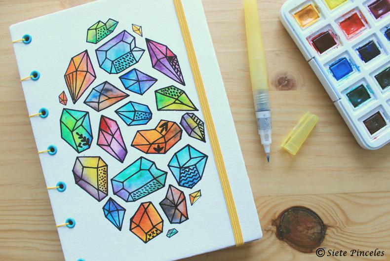 Cuaderno diamantes en bruto