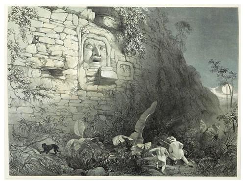 010-Cabeza esculpida en  Ixamal-Views of ancient monuments in Central America…1844- F. Catherwood