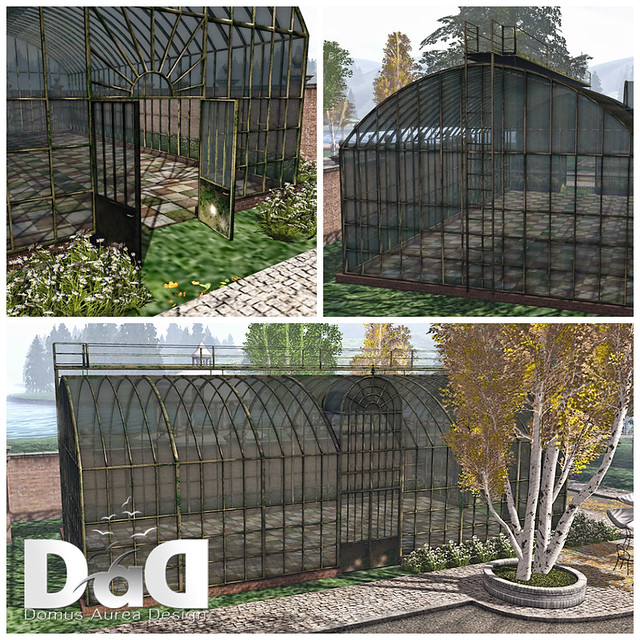 Antique Iron GreenHouse Collage