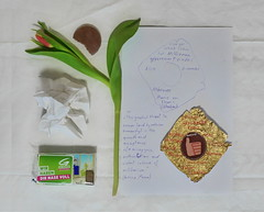 International Women`s Day - Thumbs up - Internationaler Frauentag - Nase voll, Ebner - Eschenbach, Daumen hoch, .... - Preparation for Diary Tapestry Tapisserie Tagebuch 8. 3. 2016