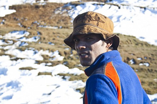 Netik Joshi - During Kedarkantha Summit 2016 in Winter , Uttrakhand, India