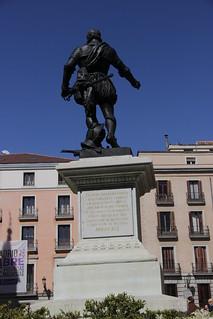 Afbeelding van Monumento a Álvaro de Bazán. madrid plazadelavilla monumentoadonálvarodebazán monumentoabazán httpswwwflickrcomgroupsmadridcitymola