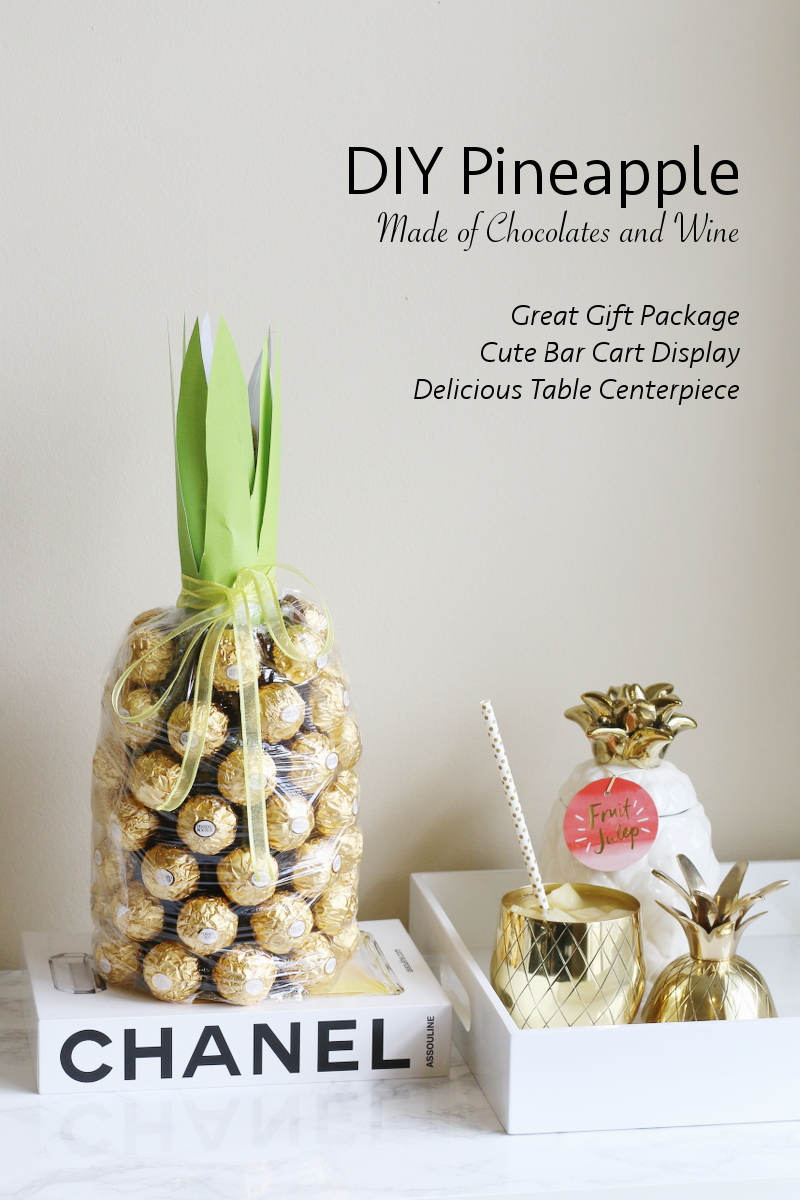 DIY Pineapple Chocolate Wine