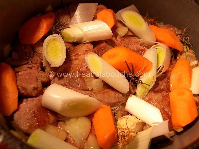 Veau Braisé Au Jurançon Légumes & Chataignes © Ana Luthi Tous droits réservés 06