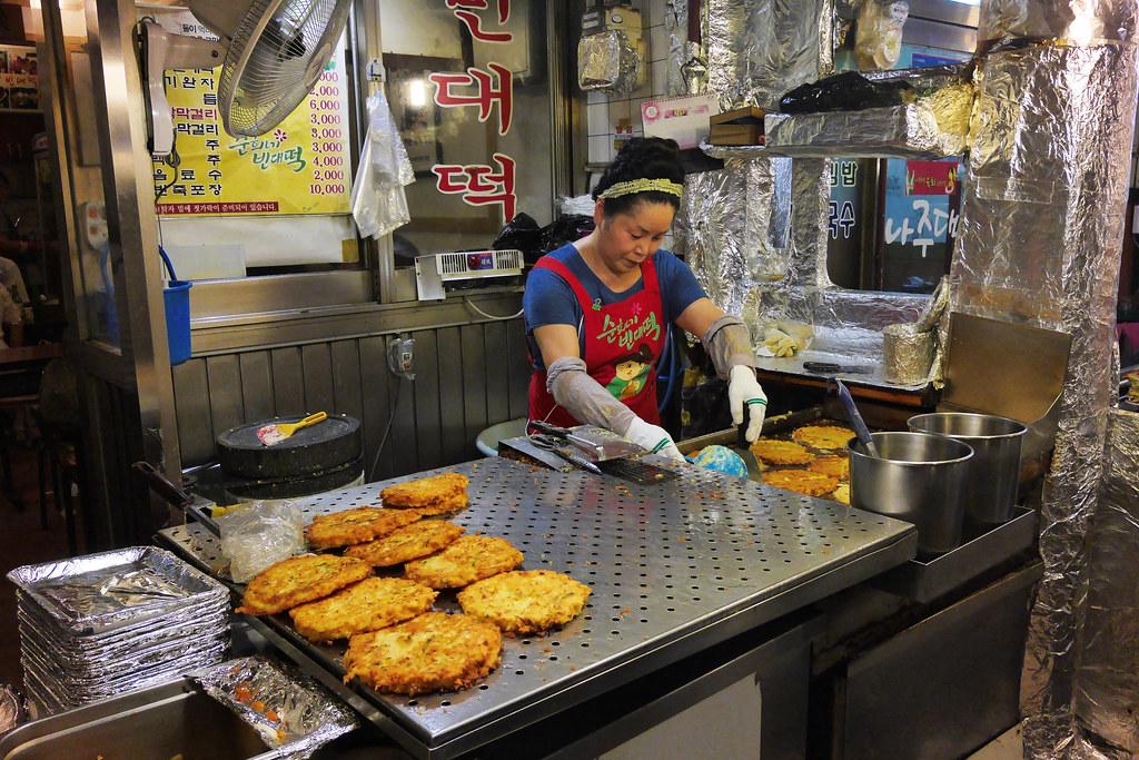 gwangjang market, food zone, Seoul