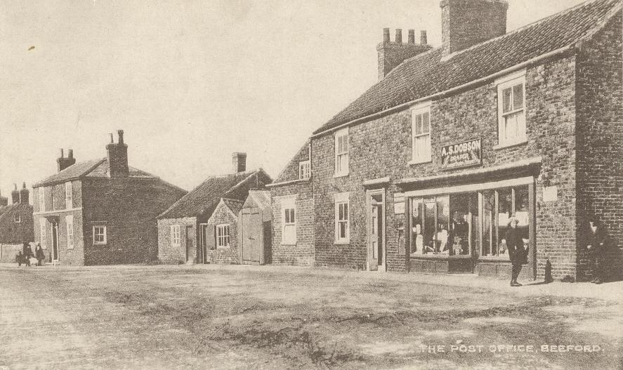 Beeford, Green Lane & Post Office 1922 (archive ref PO-1-10-2)