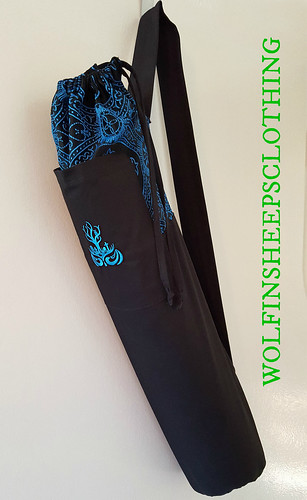 Yoga Mat Bag - Blue Gothic