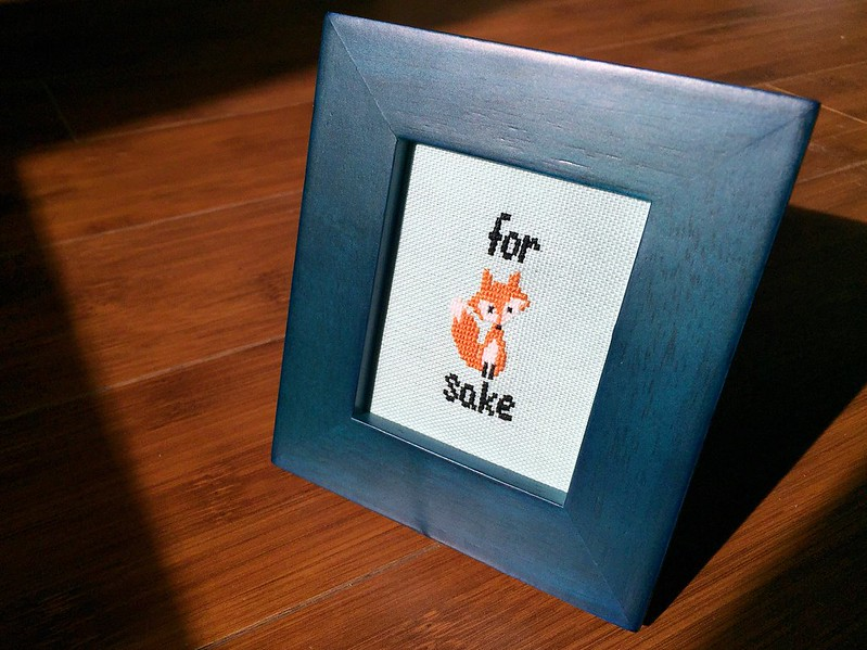 For Fox Sake Cross-Stitch