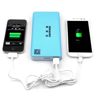 Azul KMASHI MP810 20000mAh Banco de energía móvil cargador externo con salida USB Dual