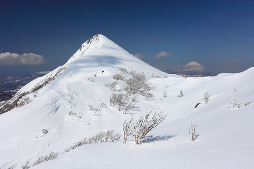 雪の徳舜瞥山と羊蹄山