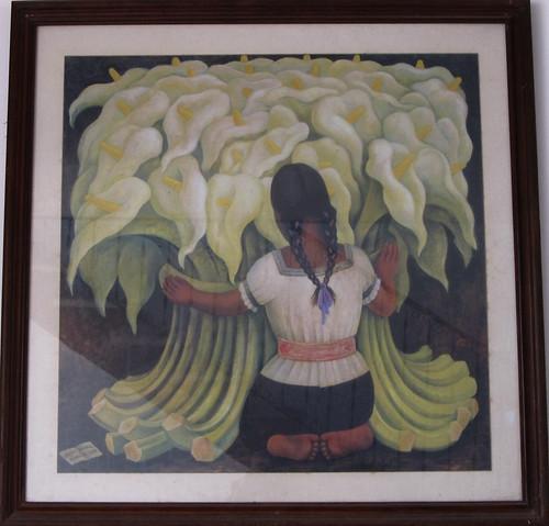 Merida: tableau de Diego Rivera, époux de Frida Kahlo et de 21 ans son ainé. Ce tableau se trouve sur les billets de 500 pesos mexicains.