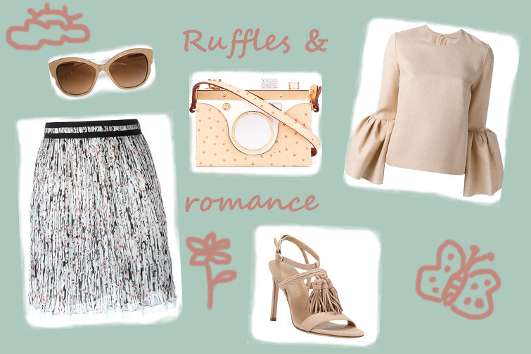 Ruffles and romance styling for Farfetch