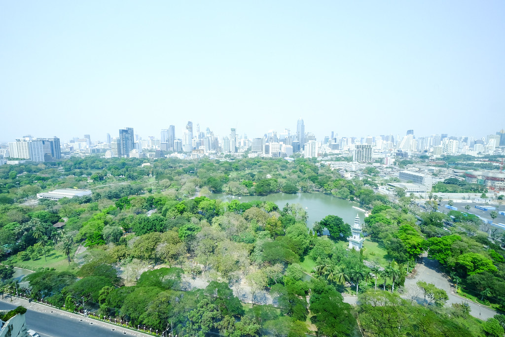:Looking from Sofitel So Bangkok at the Stunning Views of Lumphini Park