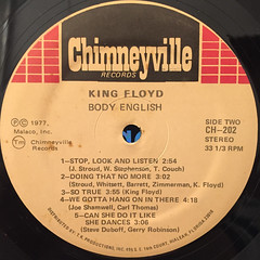 KING FLOYD:BODY ENGLISH(LABEL SIDE-B)
