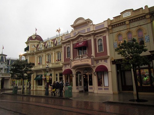 Rainy day on Main Street USA