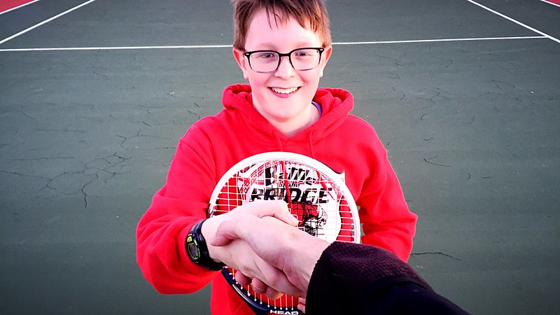day 4292:  the start of another tennis season and me delivering crushing, character building defeats to odin.