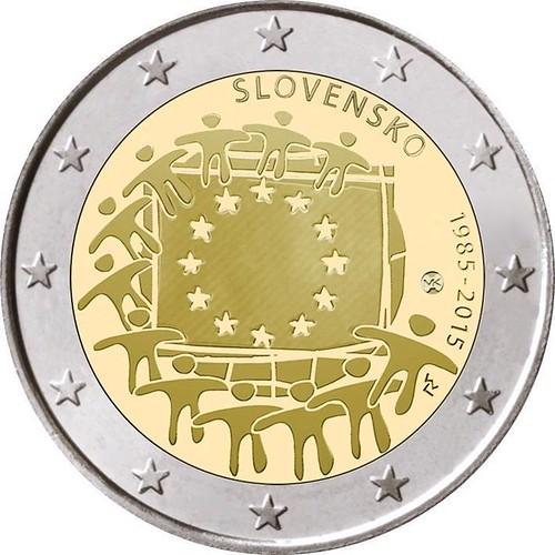 2 Euro Slovensko 2015, Vlajka EÚ