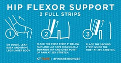 Step up to the plate prepared — maximize your swing by supporting your hip flexor. #kttape #FinishStronger