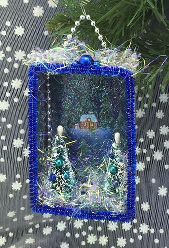 Grandmother's House Christmas shadow box