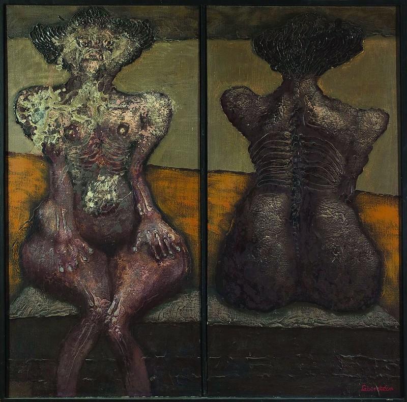 Jan Lebenstein - Point Of View (dyptich), 1967