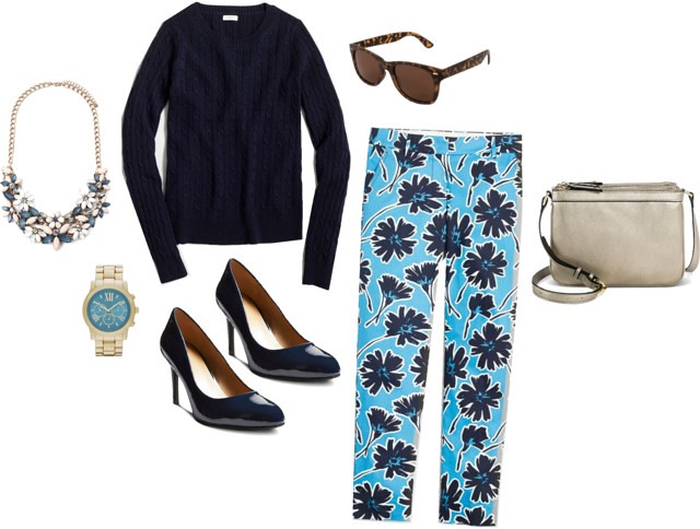 What I Wish I Wore Wednesday: Navy Garden | Style On Target