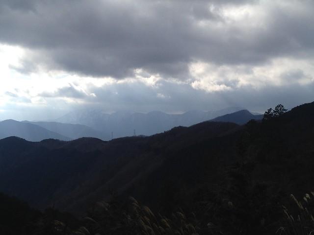 小島山~ムネ山 登山道から伊吹山方面