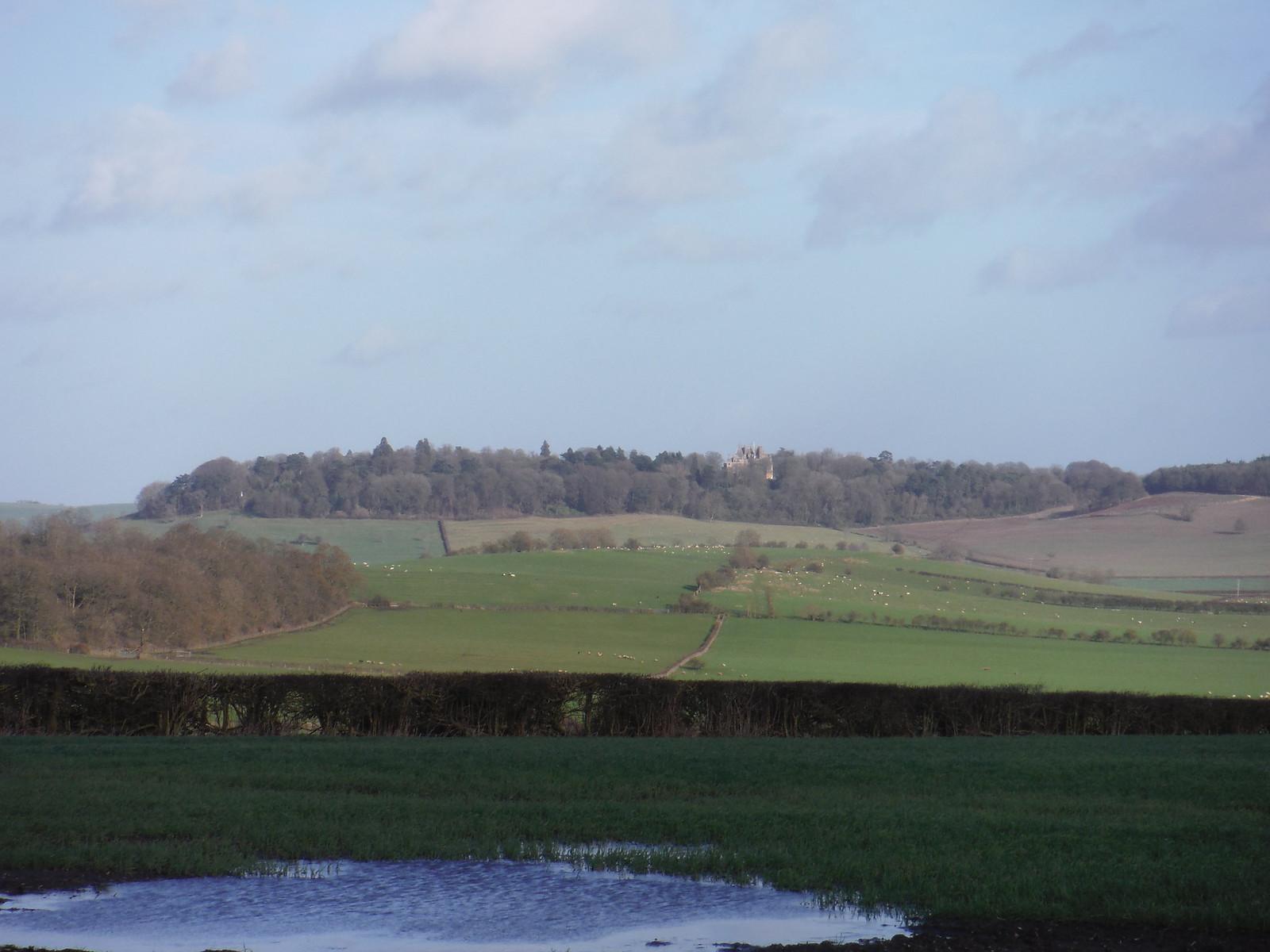 Waddesdon Manor, from Upper Pollicott SWC Walk 191a Haddenham Circular (w/o Brill)