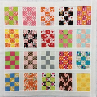 finally sewn my #packpatchminiqal blocks together - another one for the hand quilting list !!