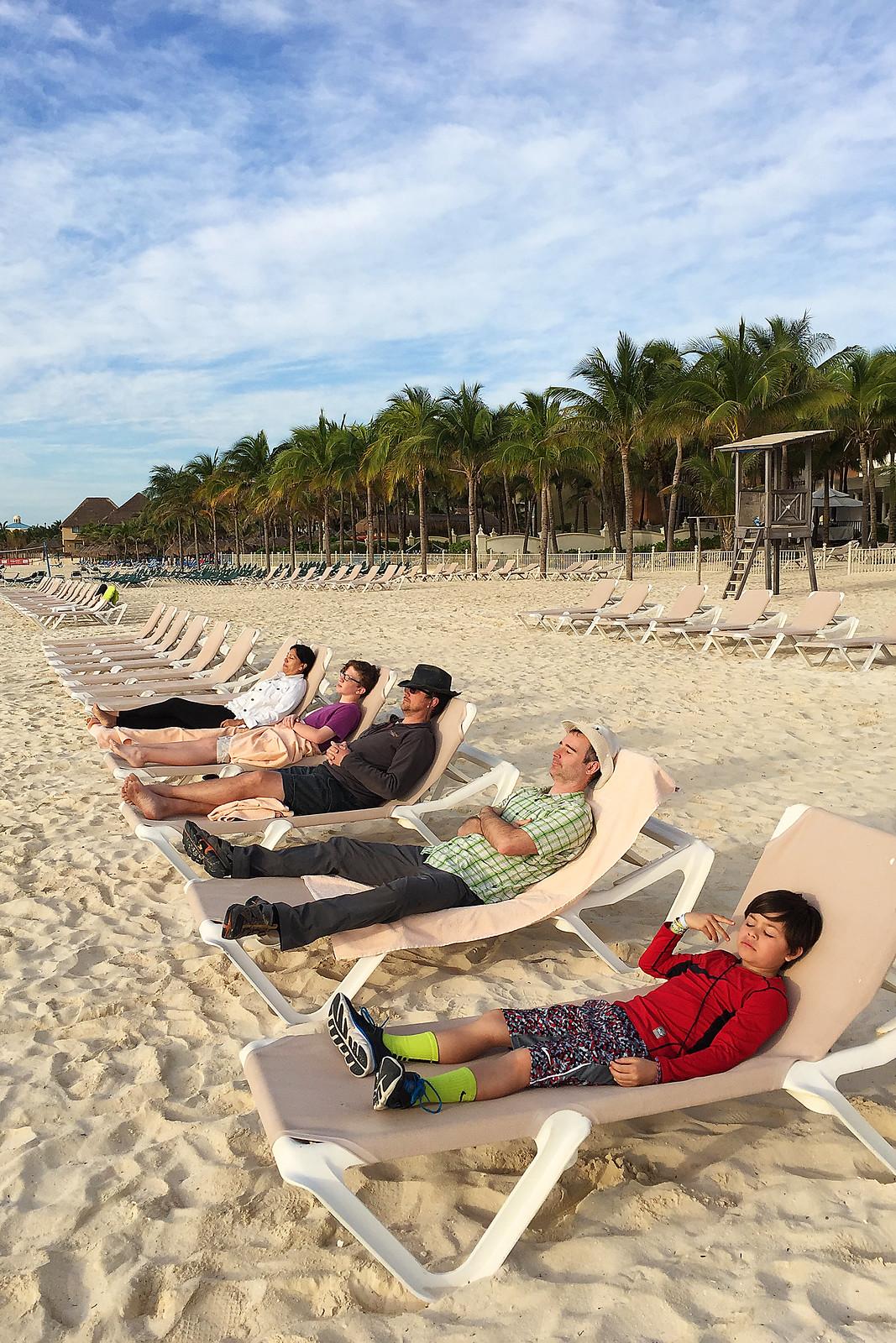 Row of Chairs - Riviera Maya Beach