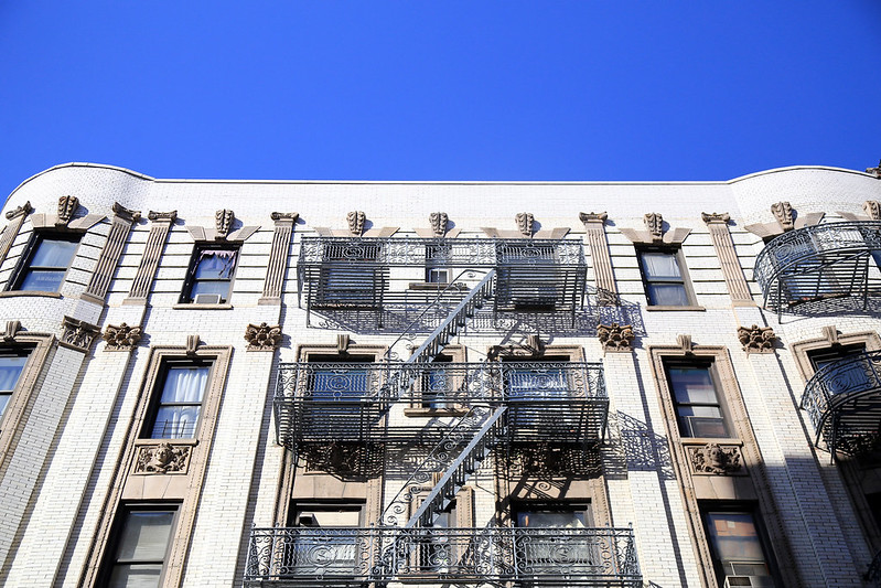 New-York-builduing-facade-with-emergency-stairs