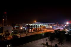 Tirana International Airport Nënë Tereza at night