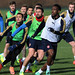 Danny Welbeck, Olivier Giroud and Alexis Sanchez of Arsenal by Stuart MacFarlane