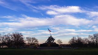 Image of US Marine Corps Memorial. arlington virginia us unitedstates