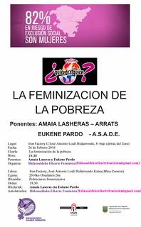 LA FEMINIZACION DE LA POBREZA CARTEL