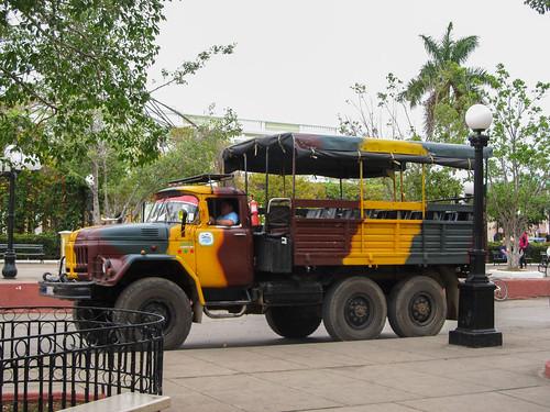 Trinidad: notre camion-bus pour notre journée dans les montagnes à Topes de Collantes