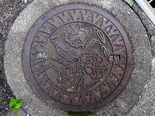 Taga Shiga, manhole cover 3 (滋賀県多賀町のマンホール3)
