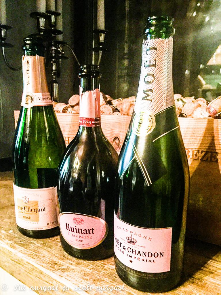 rose champagne, restoran Dominic